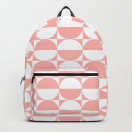 Mid Century Modern Half Circles Pattern Peach Backpack