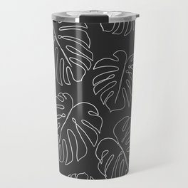 black leaf monstera Travel Mug