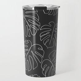black leaf monstera Travel Mug