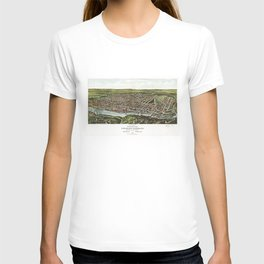 Bird's Eye View of Manayunk Philadelphia, Pennsylvania (1907) T-shirt