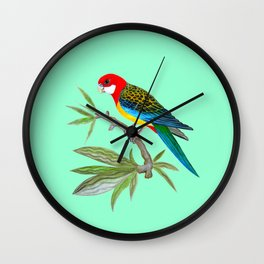 golden-mantled rosella Wall Clock