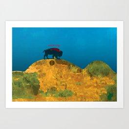 Bizon vert Art Print