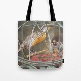 Can a Bird Sing Only the Song it Knows Or Can It Learn a New One Tote Bag