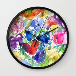 loose style flowers N.o 1 Wall Clock
