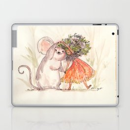 Thumbelina and the Mouse! Laptop & iPad Skin