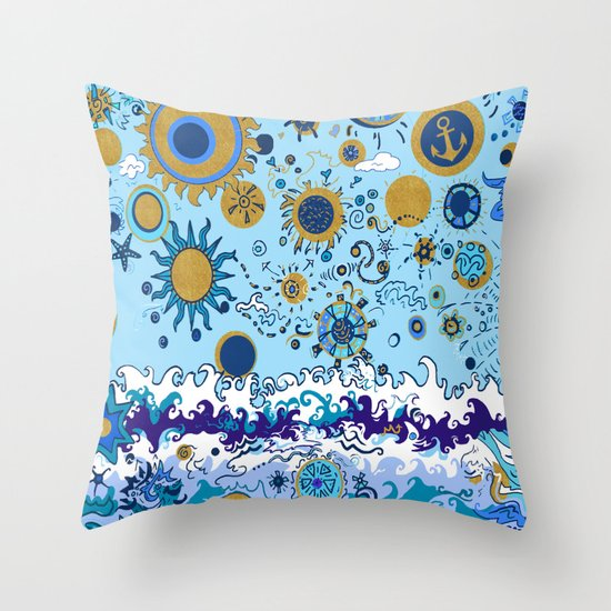 Sun Amp Sea Throw Pillow By Gretzky Society6