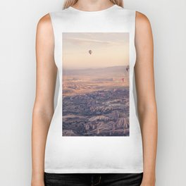 Sunrise Hot Air Balloon Flight Biker Tank