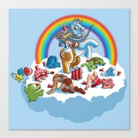 my little pony Canvas Prints featuring My Little Pony Keg by mike reisel