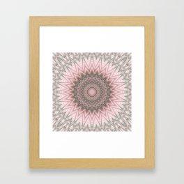Lovable edginess - Mood mandala Framed Art Print