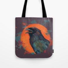 Raven Sun Tote Bag