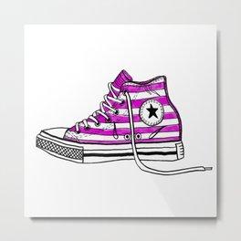 My Stripy Boot Metal Print