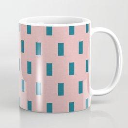 Minimal Rectangle pattern pink and blue Half drop Coffee Mug