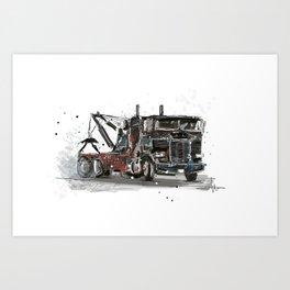 Tow-truck Art Print