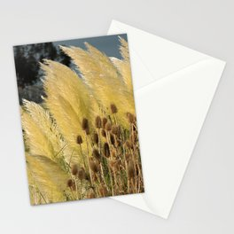 Tails of fox and thistles in the pampas. Stationery Cards