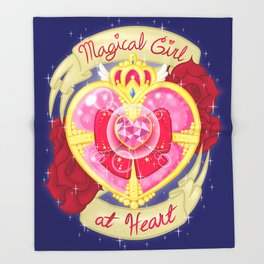Magical Girl At Heart Throw Blanket
