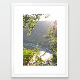 sunset light Framed Art Print