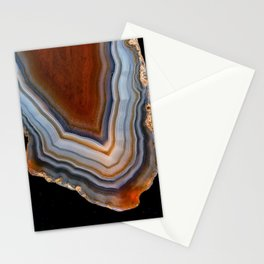 Layered agate geode 3163 Stationery Cards