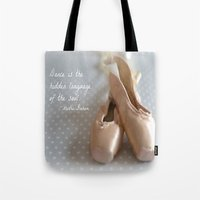 ballet Tote Bags featuring Ballet by DuniStudioDesign