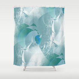 Abstract with hints of natural Shower Curtain
