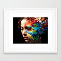 avenger Framed Art Prints featuring Avenger by Adverteasing