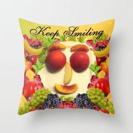Keep Smiling! Throw Pillow
