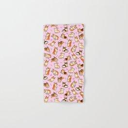 Lovey corgis in pink Hand & Bath Towel