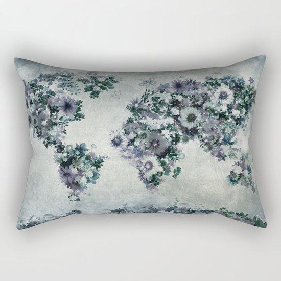 floral world map 2 Rectangular Pillow