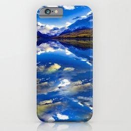 A CLOUDY DAY AT LAKE MCDONALD iPhone Case