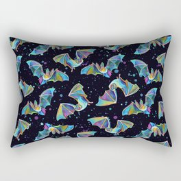 Pastel Party Bat Pattern Rectangular Pillow
