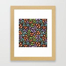 Filigree Floral smaller scale Framed Art Print