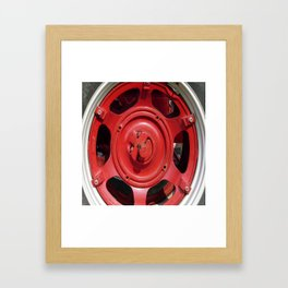 Big Red Wheel Framed Art Print