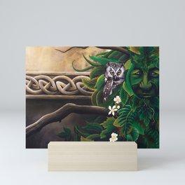 Celtic Green Man Mini Art Print