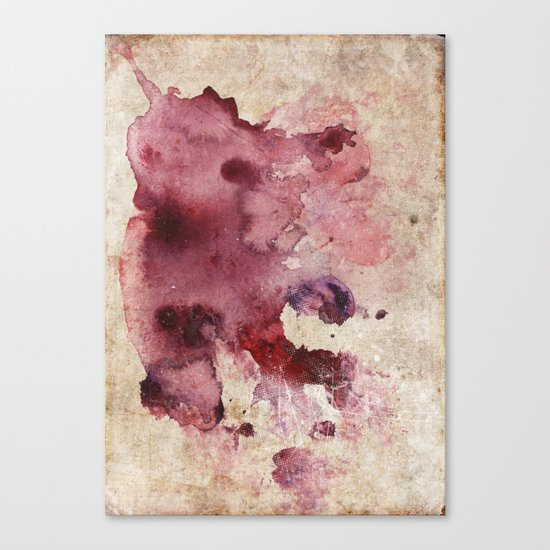 Garnet Color Splash Canvas Print