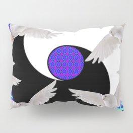 AQUA-LILAC FLYING DOVES Taoism/Daoism ART Pillow Sham
