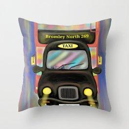 London Commute Throw Pillow