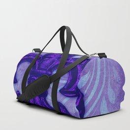 Purple Fleur de Lis Duffle Bag