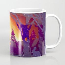 Winter Wonderland in Paper Cut Coffee Mug