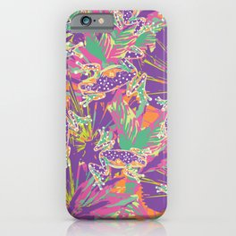 Tropical summer rainforest party iPhone Case