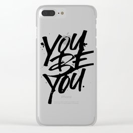 you be you Clear iPhone Case