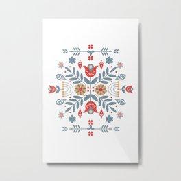Scandinavian Rosemaling  Metal Print