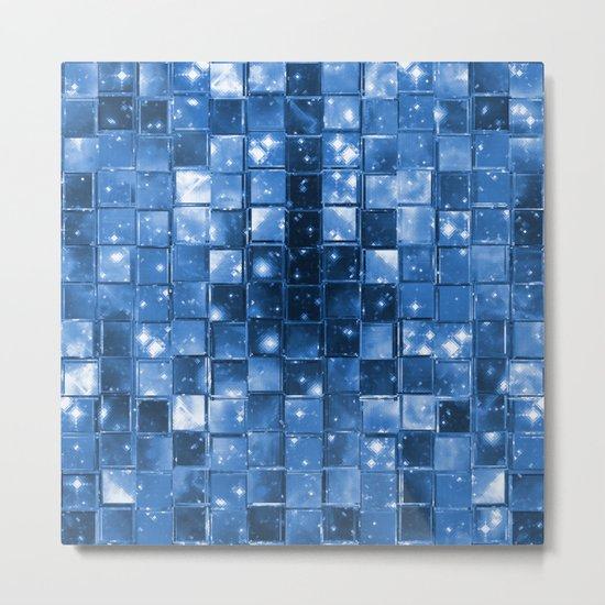 Blocky Blue Stars Metal Print