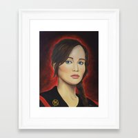 katniss Framed Art Prints featuring Katniss by Lauri Loewenberg