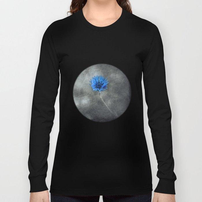 single blue Long Sleeve T-shirt