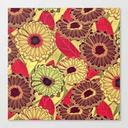 Fantasy Zinnias no. 2 Canvas Print