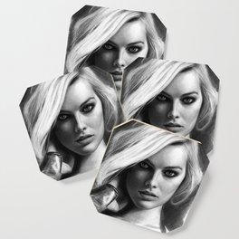 Margot Robbie Pencil Sketch Coaster