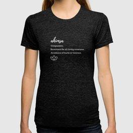 Ahimsa Definition T-shirt