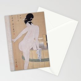 Kitagawa Utamaro - Bathing in Cold Water (1799) Stationery Cards