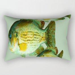 DEEP SEA FISHING GRAPHIC POSTER ART Rectangular Pillow