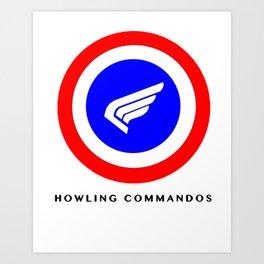 Howling Commandos Art Print
