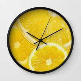 Juicy Lemon Slices Fruit Design Wall Clock
